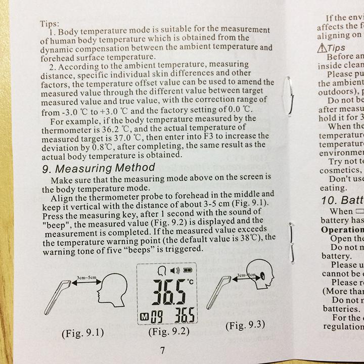 hướng dẫn sử dụng nhiệt kế CK-T1803